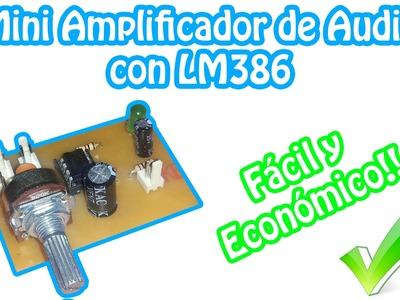 Mini Amplificador de Audio Casero   LM386