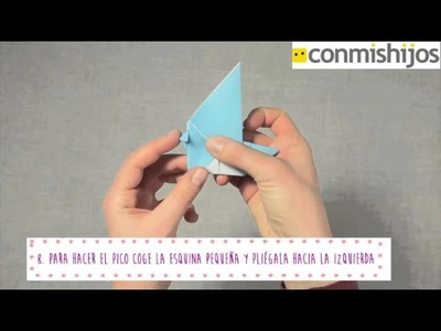 Pájaro de Papel. Origami.Papiroflexia