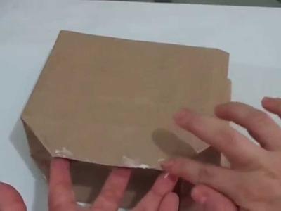 Paso a paso de como hacer una bolsa de papel