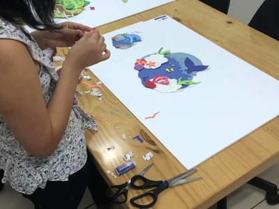 Técnica de ilustraciones en papel