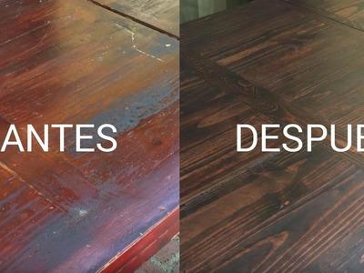 CÓMO CONVERTÍ mi mesa de madera de $0 a $800 con inversión mínima!