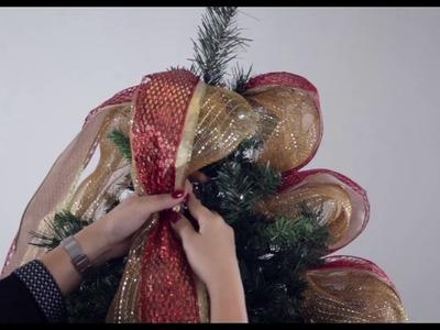 Como decorar el árbol de Navidad: Cintas