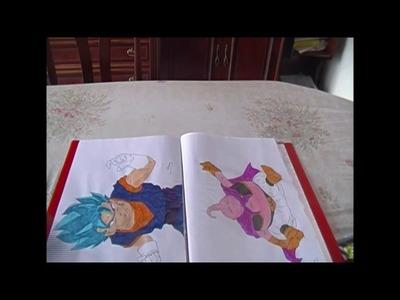 Como dibujar a Vegeta ssj God blue  Dibujos Dragon Ball Super entrega 10