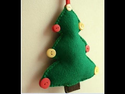 Como hacer adornos de Navidad de fieltro