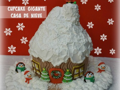 Cupcake Gigante Casa De Nieve