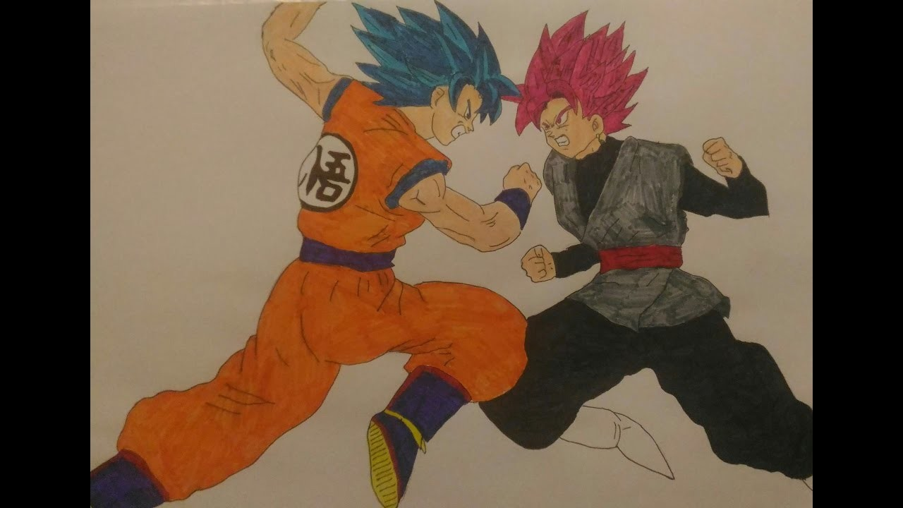 Imagenes De Goku Black Para Colorear: Dibujos De Dragon Ball Super Goku Black