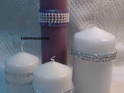 DIY: Como decorar velas ( para navidad 2 )