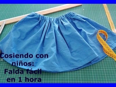 DIY: Como hacer una falda fácil y sencilla para la función del colegio en cosiendo con niños