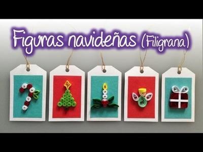 Figuras navideñas de filigrana , Quilling Christmas Figures
