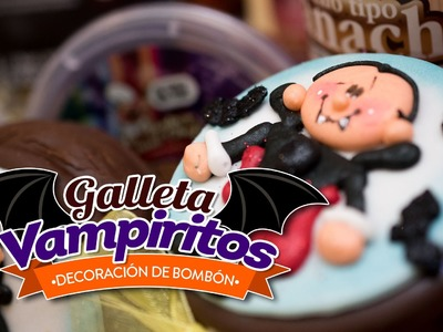 Galleta Vampiritos, decoración de Bombón