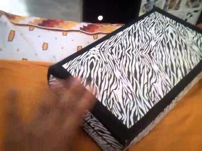 Joyero de Carton con caja de zapatos. !!