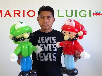 Mario y Luigi con globos paso a paso