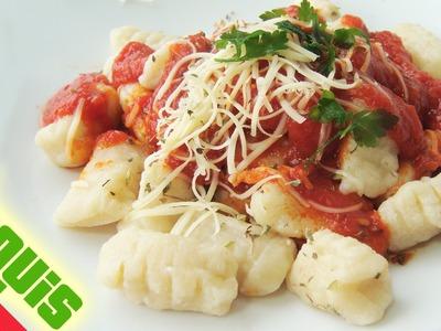 Ñoquis de papa o patata, RECETA CASERA # 333 #