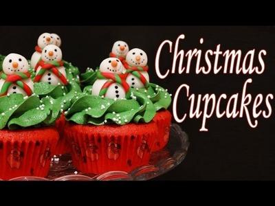 Receta de cupcakes de navidad decorados con fondant