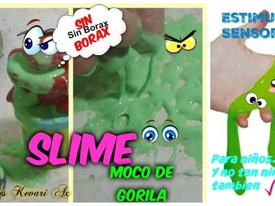 Slime Casero sin borax. Moco de Gorila sin borax.