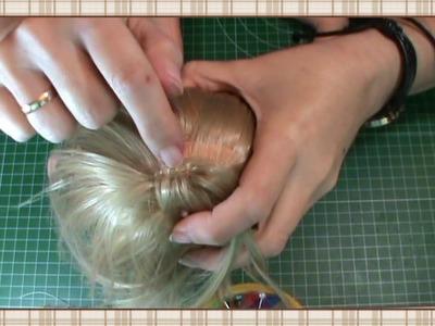 Tutorial muñeca waldorf: Coser pelo