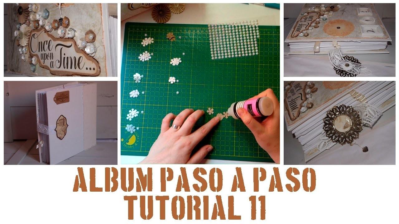 ÁLBUM PASO A PASO - TUTORIAL 11: DECORACIÓN DE LA PORTADA, FLORES Y ADORNOS