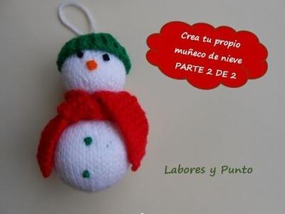 Aprende a tejer un muñeco de nieve en dos agujas- Parte 2 de 2