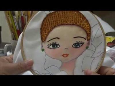 Bordado fantasia niña bailarina orquidea cabello marimur 696