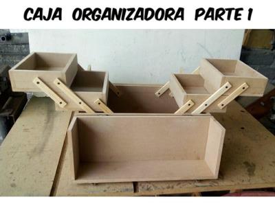 Caja organizadora o cosmetiquera de MDF