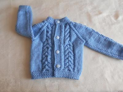 Chambrita. chompa. suéter. saco de 3  a 6 meses paso a paso parte 1 de 3