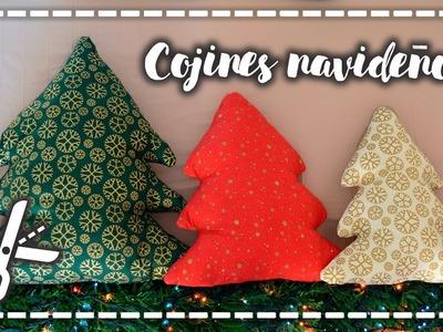 Cojines navideños DIY - Arbolitos minimalistas