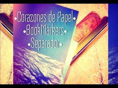Como hacer: Bookmarkers · Separador • Corazones de Papel