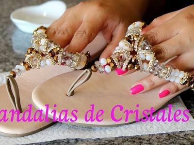 Como hacer Sandalias de Cristales 2 : Pekas Creaciones