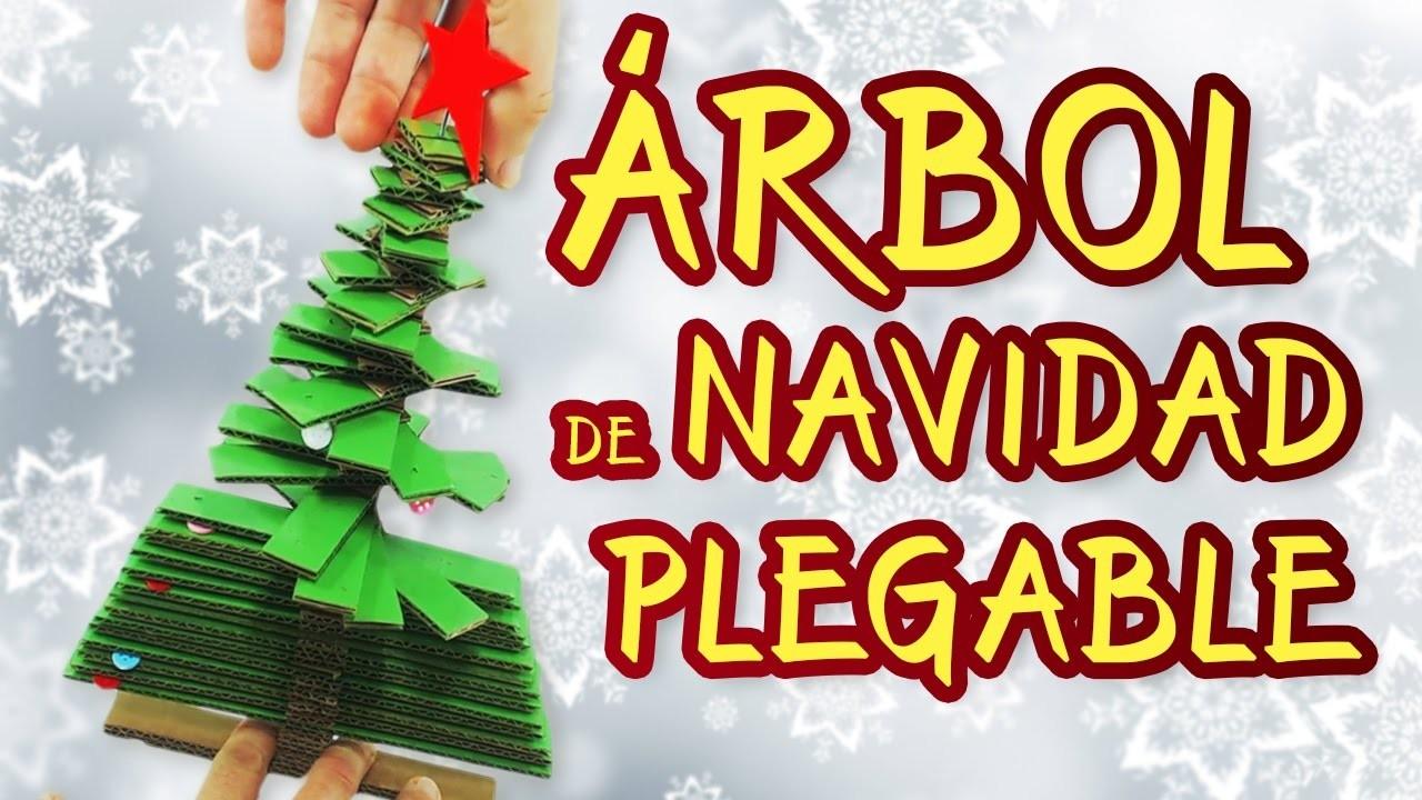 C mo hacer un rbol plegable manualidades para navidad - Como se adorna un arbol de navidad ...