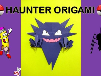 HAUNTER  ORIGAMI POKEMON GO - how to make origami