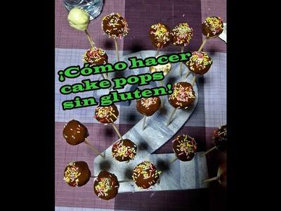¡Cómo hacer cake pops sin gluten! DIY Cake Pops