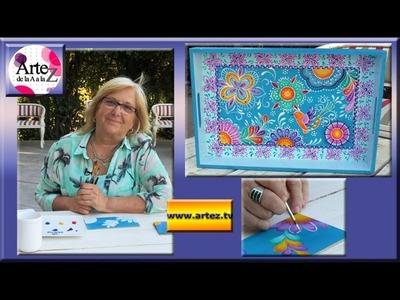 Ideas para decorar una bandeja con pintura acrílica