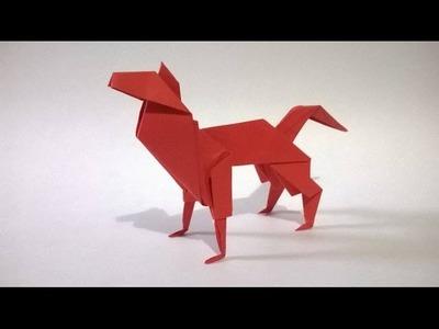 ORIGAMI: PERRO DE PAPEL - (cachorro) origami paper dog