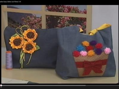 Sonia Franco. Programa Nuestra Casa. Bolso con Flores 1.5