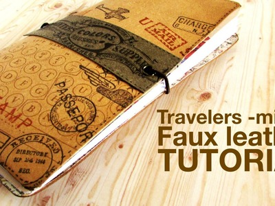 Tutorial Travelers Midori Style Faux Leather Notebook
