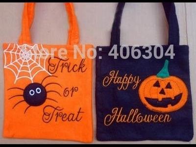 Bolsas para Halloween - como hacer facil  y rapido para halloween