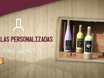 Botella Personalizada - Handmade Vinos