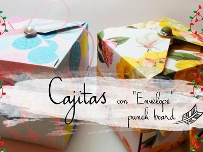 ➸ CAJAS CON ENVELOPE PUNCH BOARD || MANUALIDADES DIY. Español