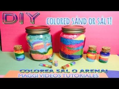 Como decorar botella con  Arena de Colores o Sal