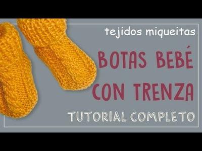 Cómo hacer botas para bebé con trenza (con lana sobrante)