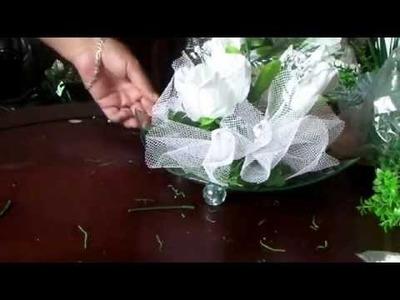 Como hacer un centro de mesa para boda