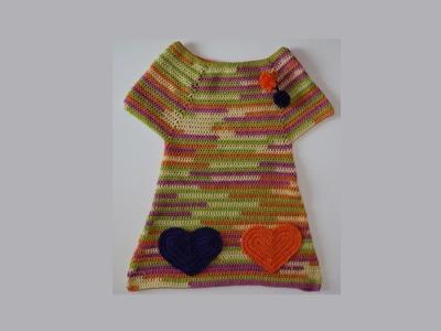 Como hacer vestido ABI con bolsillos corazón.