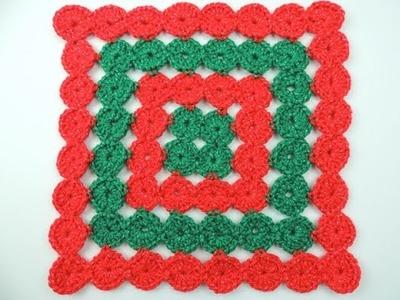 Crochet: Cojín de Navidad en Círculos Continuos