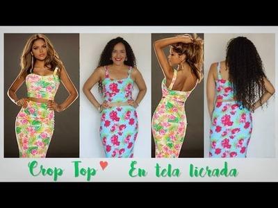 Crop Top - en Tela Licrada - Tutorial de SANDRA PADILLA
