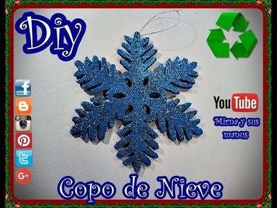 Diy  Copo de Nieve Reciclando Mirna y sus manus. Diy. Recycling Snowflake