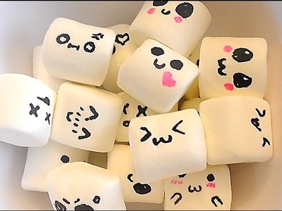 DIY: Haz tus Bombones kawaii - Kawaii marshmallows