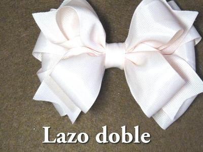#DIY - Lazo o liston doble paso a paso #DIY - Double loop or step by stepo