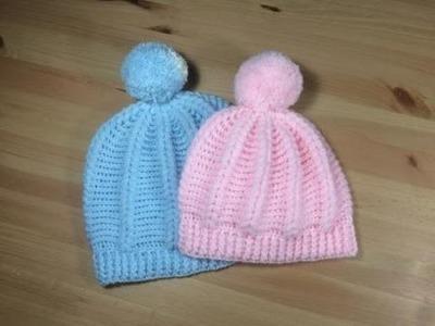 Gorro en relieve tejido a crochet con punto puff todas las tallas