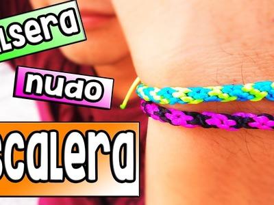 ►PULSERA: nudo CARACOL || Pulseras de hilo