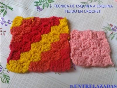 Tecnica para tejer de esquina a esquina en Crochet